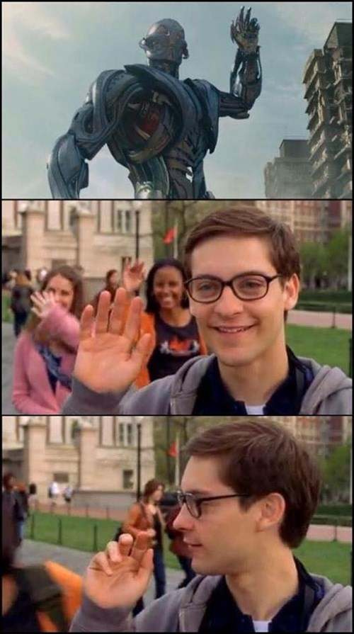 superheroes-spiderman-marvel-ultron-awkward-peter-parker