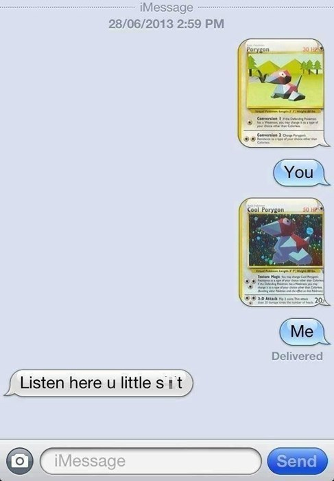 Pokémon texts porygon - 8457585920
