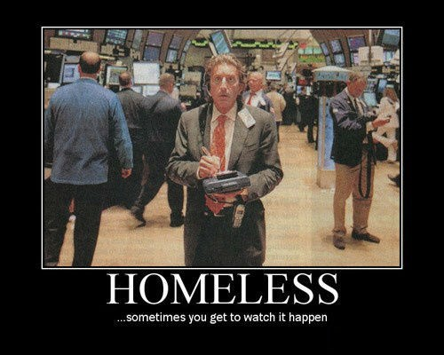 scary homeless Wall Street funny