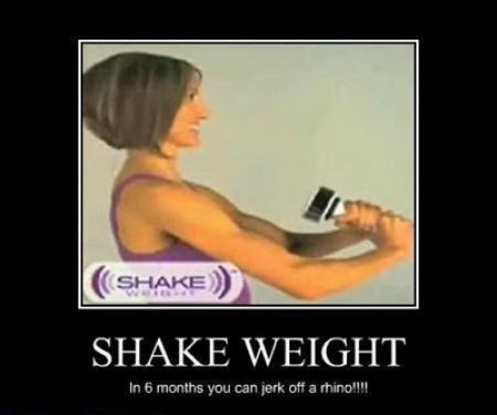 wtf shake weight exercise funny - 8457734400