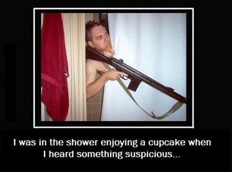 guns,cupcake,shower,funny