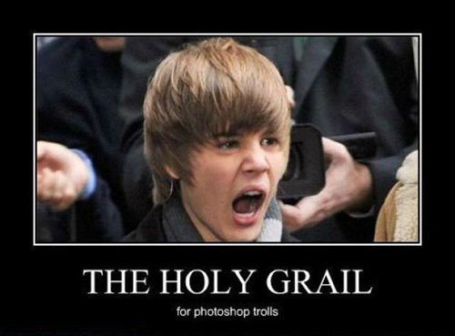 photoshop,funny,holy grail,justin bieber