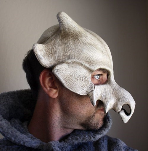 geeky merch cubone cosplay mask
