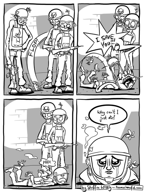 soldiers army grenades web comics - 8457981696