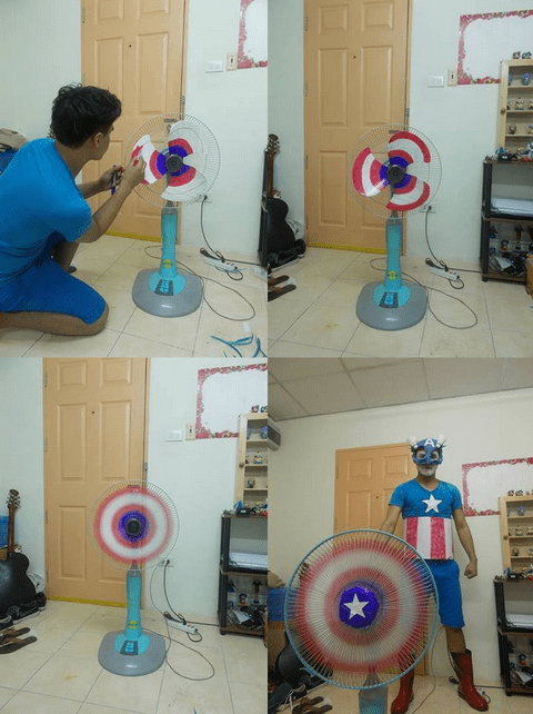 superheroes-captain-america-marvel-cosplay-fan-paint-shield