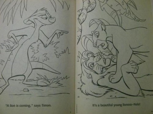 cartoon memes the lion king naughty coloring book