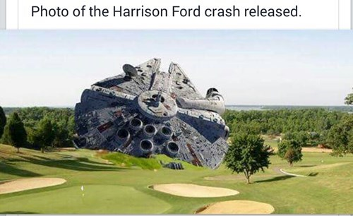 Harrison Ford star wars millennium falcon - 8458084352