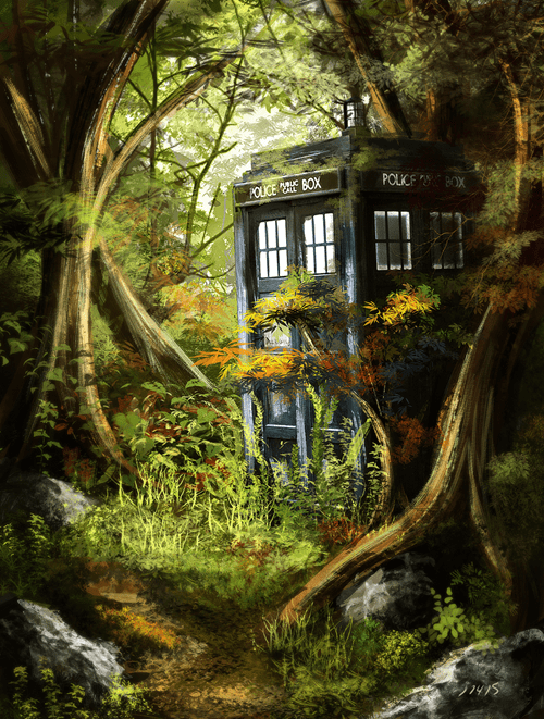 funny-doctor-who-tardis-woods