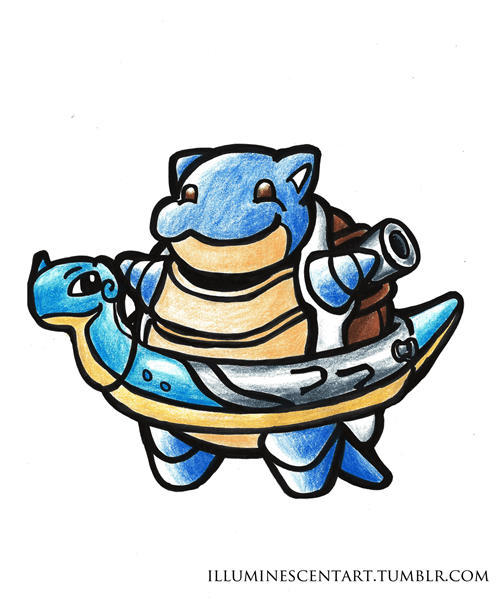 Pokémon blastoise water types swimming - 8459220992