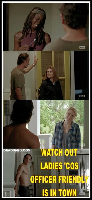 funny-walking-dead-officer-friendly-rick-grimes-flirt
