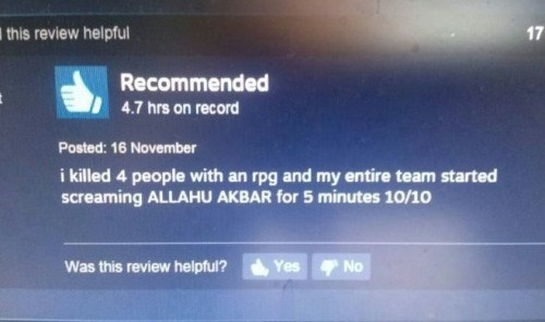steam,allahu akbar,user reviews