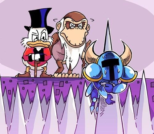 cranky kong shovel knight spikes platformers ducktales - 8459636480
