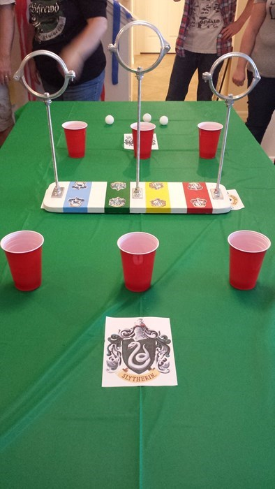 in Quiddich beer pong always go for the snitch