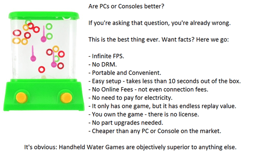 consoles,gaming,water games
