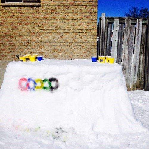 Canada, the land of snowy beer pong