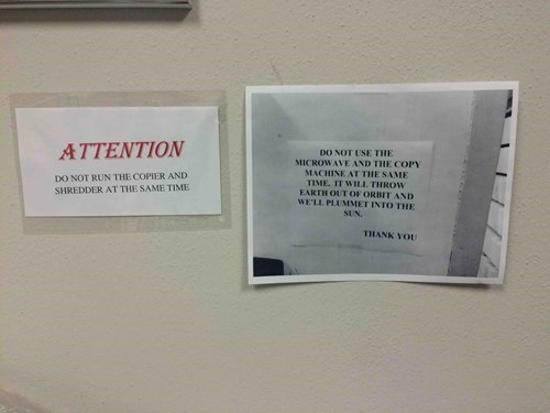 this school's copier can end the world