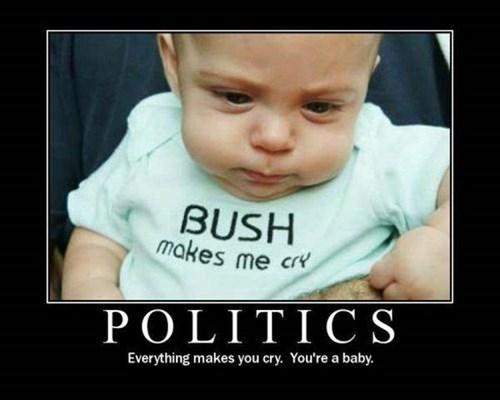 baby idiots funny bush politics - 8460231168