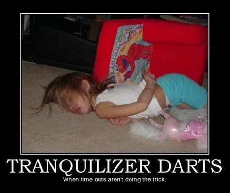 kids tranquilizer darts passed out funny