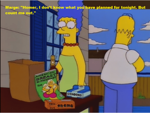 poor homer and his enema