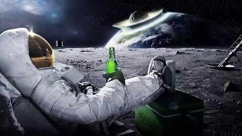 Just go ahead and get drunk astronaut, because that's your last beer