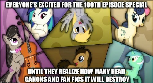 head canon destroyed brony 100th episode - 8460282880