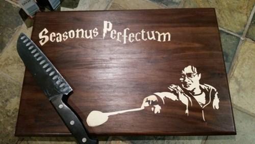 geeky merch harry potter cutting board