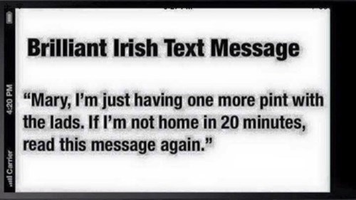 one clever irish text message