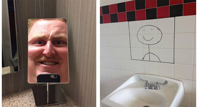 mirror mirrors bathroom selfie funny weird - 8460549