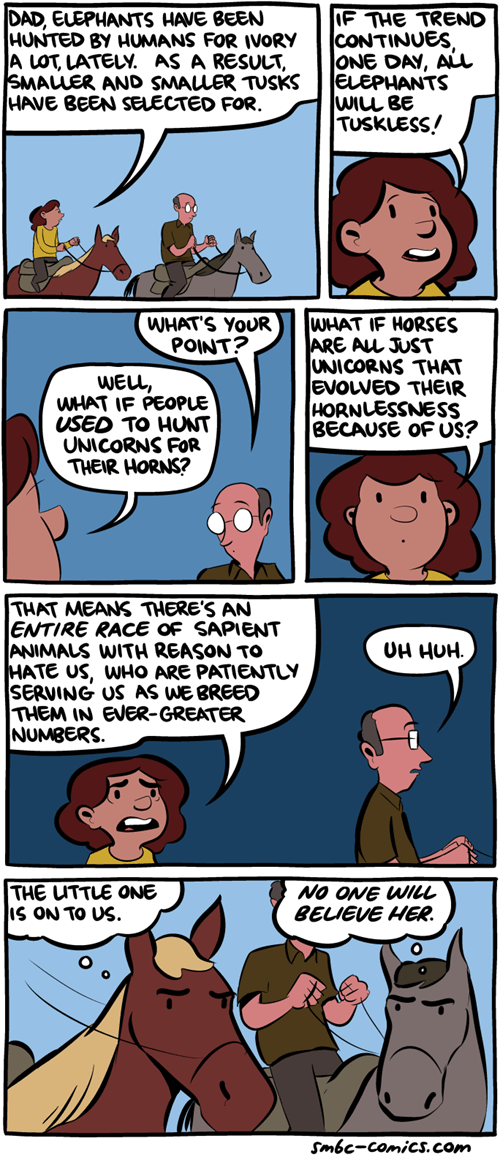 sad but true,unicorns,elephants,horses,web comics