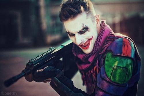 geeky cosplay dc joker gun