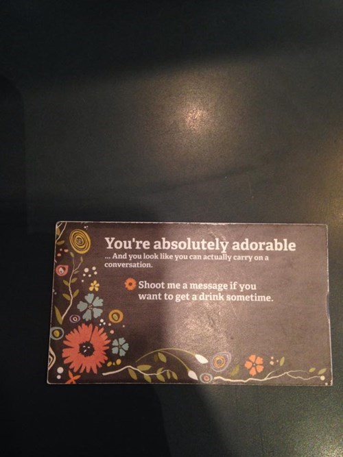 using business cards to pickup girls