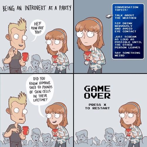 Being an Introvert at a Party