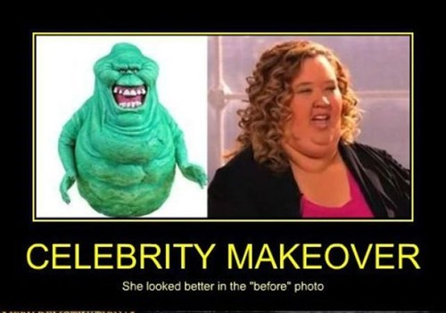 ghost busters,slimer,honey boo-boo,funny