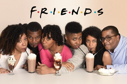 What if the characters on 'Friends' were black?