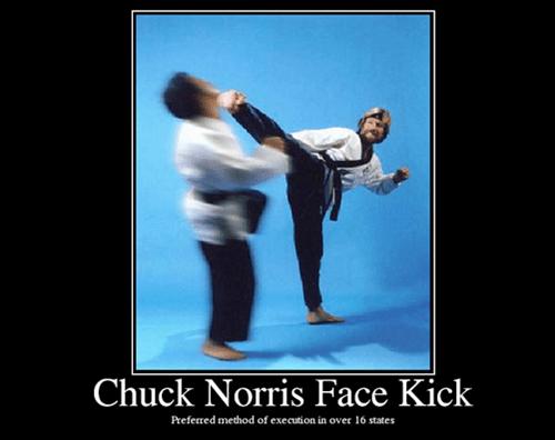 kick,face,chuck norris,funny
