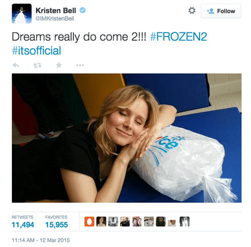geek news disney frozen 2 announced