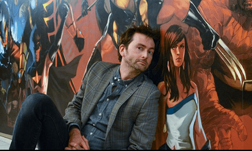 David Tennant Visited The Marvel Studios in New York