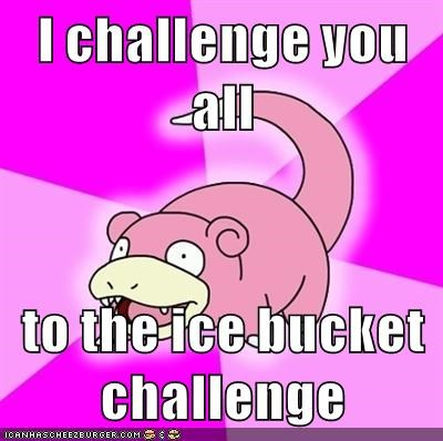 video games geek Pokémon ice bucket challenge slowpoke - 8461546496