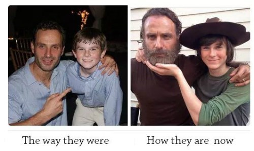 funny-walking-dead-rick-grimes-carl-growing-up