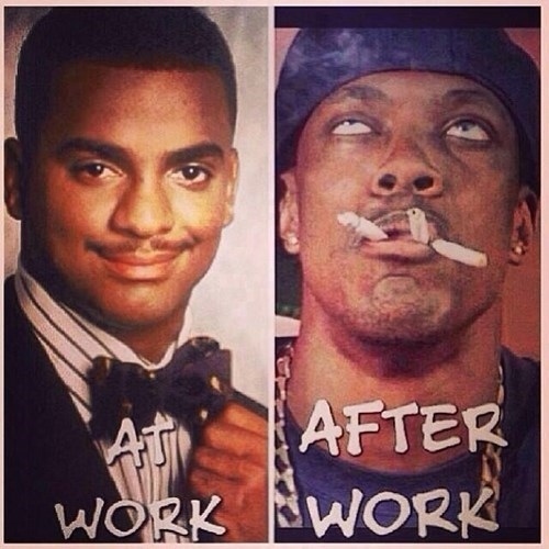 at work I'm more responsible than carlton