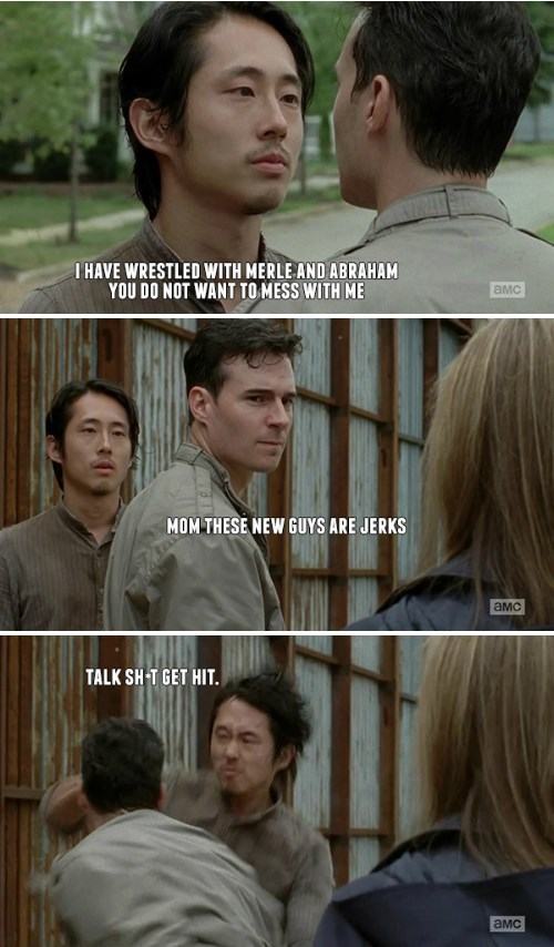 funny-walking-dead-glenn-punches-lame-guy-alexandria-meme