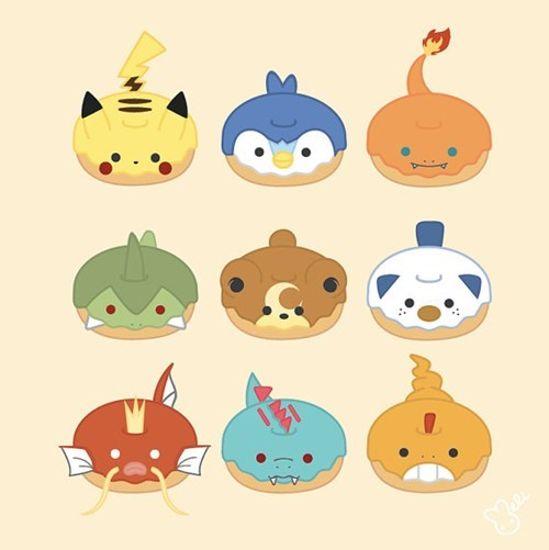 Fan Art donuts Pokémon - 8462022144