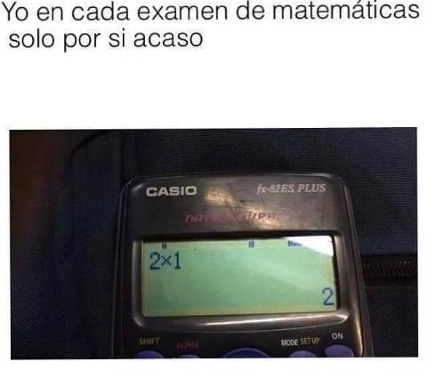 En el examen