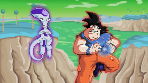 crossover anime Fan Art Dragon Ball Z american dad cartoons - 8462859008