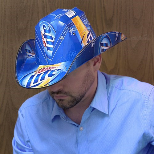 nothing like a miller lite cowboy hat