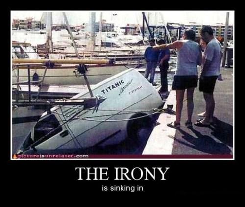sinking icebergs irony funny - 8463119360
