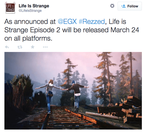 video game news life is strange episode 2 release date