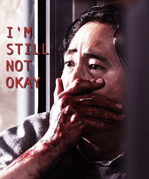 walking dead memes glenn not okay
