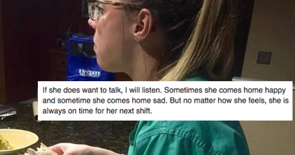 Husband Leaves Heartwarming Facebook Note to His Wife Who Always Eats Alone