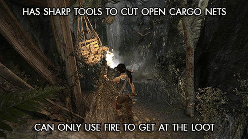 video game logic,Tomb Raider